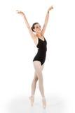 Pointe joven del en del bailarín de ballet Imagen de archivo libre de regalías