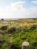 Pointe oies aux linia brzegowa między Wimereux i Ambleteuse zdjęcie stock