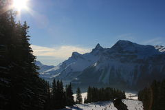 Pointe Percée from Ski Piste Stock Photography