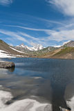 Pointe Rousse lake - vertical Stock Image