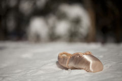 Pointe shoe royalty free stock photos
