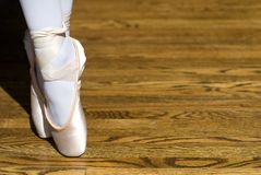 Pointe Shoes Stock Photography