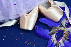 Pointe shoes  and ballet costume Royalty Free Stock Photos