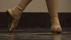 Pointe shoes for ballet. Or dance stock video