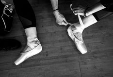 Pointe shoes. Stock Photography