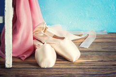 Pointe shoes Stock Image
