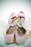 Pointe shoes and tutu Royalty Free Stock Photography