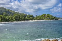 Pointe Ste Marie, Seychelles. View from Pointe Ste Marie on Grand Anse, Praslin island, Seychelles Royalty Free Stock Image