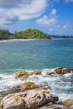 Pointe Ste Marie, Seychelles. View from Pointe Ste Marie on Grand Anse, Praslin island, Seychelles Royalty Free Stock Photos
