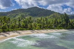 Pointe Ste Marie, Seychelles. View from Pointe Ste Marie on Grand Anse, Praslin island, Seychelles Stock Photography