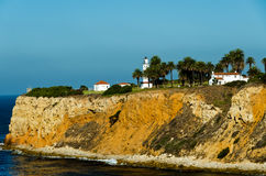 Pointe Vincente Lighthouse. Pointe Fermin Lighthouse from a distance Stock Image