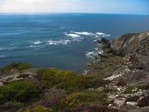 Pointe y costa de mar en Bretaña foto de archivo libre de regalías