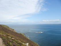 Pointe y costa de mar en Bretaña foto de archivo
