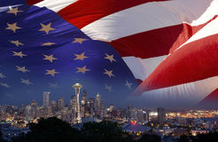 Pointeau de l'espace de Seattle - Etats-Unis photographie stock