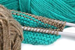 Pointeau de laine d'amorçage et de tricotage. Photos libres de droits