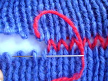 Pointeau de tricotage d'amorçages Image libre de droits