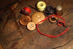 Pointeau et boutons Photographie stock libre de droits