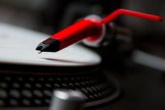 Pointeau sphérique sur l'enregistrement de vinyle image libre de droits