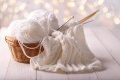 Pointeaux de fil et de tricotage images libres de droits