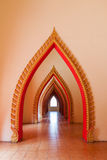 Pointed arch arch inside Wat Tham Sua  Kanchanaburi Stock Images