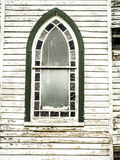 Pointed, Arched Window in Old Country Church Stock Photos