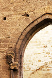 Pointed arches, stone walls, middle ages Stock Photography