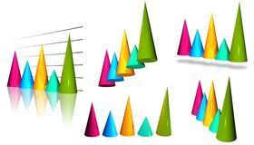 Pointed Cones Stock Images