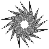 Pointed, edgy shape rotating inwards. Royalty Free Stock Image