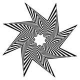 Pointed, edgy shape rotating inwards. Stock Image