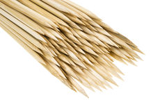 Pointed ends of skewer sticks Royalty Free Stock Image