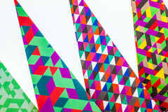 Pointed geometric patterns on white Stock Image