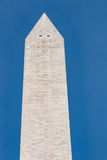Pointed Marble Pyramidion Atop the Washington Monument Stock Photo