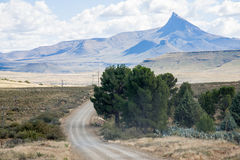 Pointed mountain near Nieu Bethesda in the Eastern Cape province of South Africa Royalty Free Stock Photo