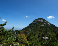Pointed peak. Along the trail at Grandfather mountain in North Carolina Royalty Free Stock Images