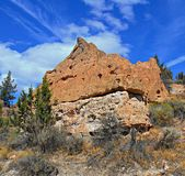 Pointed Rock. Rock formation at Chalk Rocks along Lower Bridge Road - west of Terrebonne, OR royalty free stock image