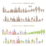 Pointed roofed cute houses Royalty Free Stock Image