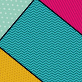 Pointed and striped background design. Pointed striped background wallpaper decoration and effect icon. Multicolored design. Vector illustration Royalty Free Stock Photo