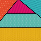 Pointed and striped background design. Pointed striped background wallpaper decoration and effect icon. Multicolored design. Vector illustration Stock Photo
