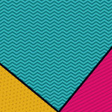 Pointed and striped background design. Pointed striped background wallpaper decoration and effect icon. Multicolored design. Vector illustration Royalty Free Stock Photography