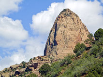 Pointed Summit in Zion National Park Stock Photography