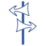 Pointer. With two arrows of the opposite directions Vector Illustration