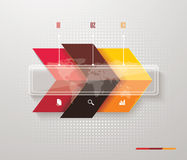 Pointer arrows. Graphic or website layout. Stock Photography