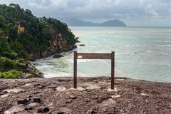 Pointer on cliff in Bako National Park Stock Photography