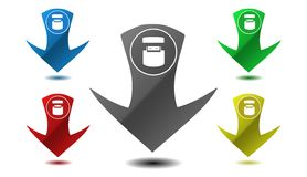 Pointer data transfer, icon, sign, illustration Royalty Free Stock Photography