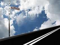 Pointer Happiness On The Road Against The Sky Stock Image