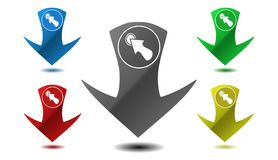 Pointer icon, sign, illustration Stock Image
