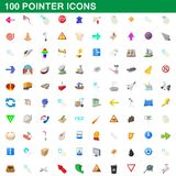100 pointer icons set, cartoon style. 100 pointer icons set in cartoon style for any design illustration stock illustration