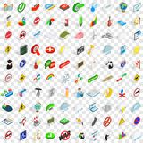 100 pointer icons set, isometric 3d style. 100 pointer icons set in isometric 3d style for any design vector illustration royalty free illustration