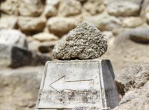 Pointer Knossos Palace ruins. Heraklion, Crete, Greece Royalty Free Stock Image