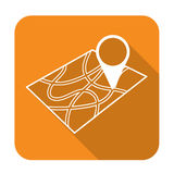 Pointer on map icon Stock Image
